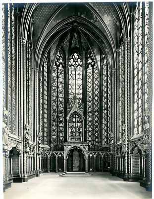 France Paris La Sainte-Chapelle Vintage print Tirage argentique  21x27  Ci