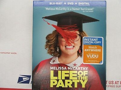 Life Of The Party(Blu-Ray+Dvd+Digital)W/slipcover New Sealed