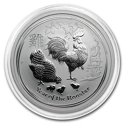 2017 ~ 1/2~OZ. .9999 SILVER ~ YEAR of the  ROOSTER ~ PERTH  MINT CAPSULE ~ $9.99