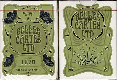 Belles Cartes LTD 1870 Playing Cards Poker Size Deck EPCC Custom Limited Edition