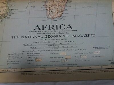 Vintage National Geographic Map - Africa (1943)