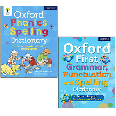 Oxford Phonics Grammar, Punctuation, Spelling Dictionary 2 Books Collection Set
