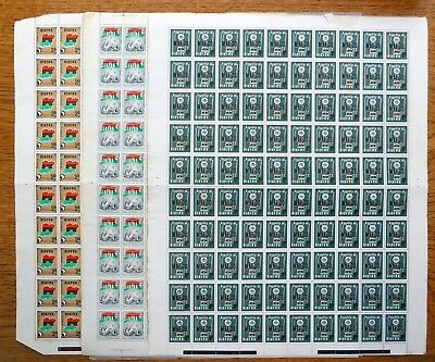 BIAFRA 1968 Independence 2d 4d & Anniv 4d Complete Sheets of 100 SEE BELOW NJ820