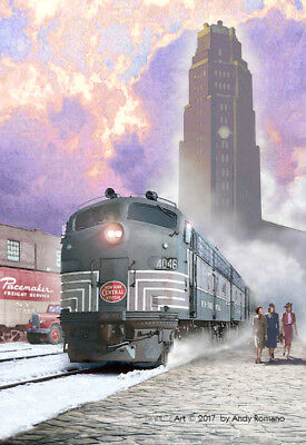 "NYC E8 WITH ""LIGHTNING"" STRIPES, ART BY ANDY ROMANO LIMITED 1st EDITION R15-220"