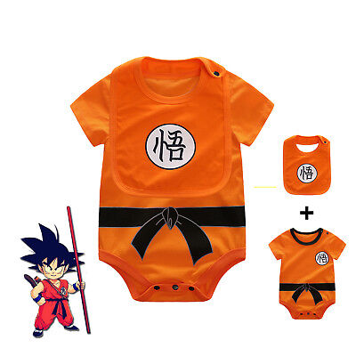 2018 Baby Boys Dragon Ball Z Romper Newborn Goku Summer Sets Infant Short Sleeve