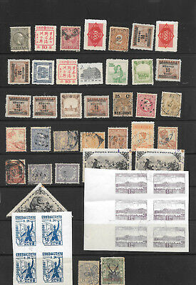 East  Asia, small Collection with faults, bugs, defects, 2nd choice see  Scan