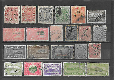 Indien, India, Old states Cochin, Travancore, 22 stamps,   (C)