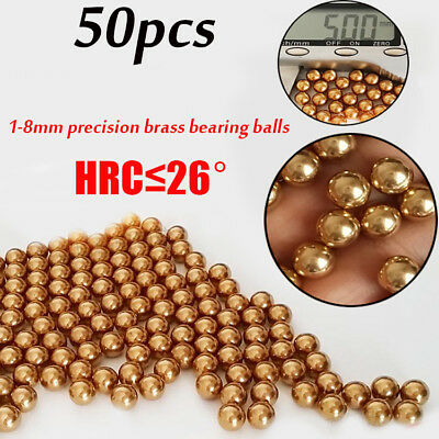Eectrical Instrument Precision Copper Brass Ball Bearings Rolling Beads 1-8mm UK