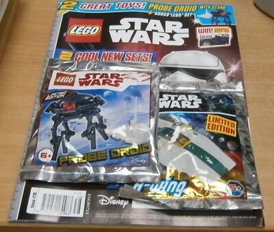 Lego Star Wars magazine #38 2018  + Limited Edition Probe Droid & A-Wing Toys