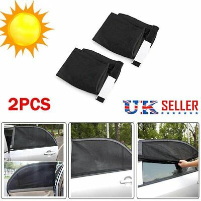 2X Universal Car Sun Mesh Blind Rear Window UV Protector Sun Shade for Baby Kids