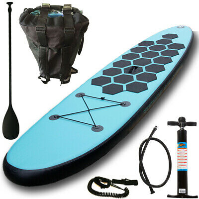 Aquaparx Sup Stand Up Paddle Board 305 Inflatable Isup Aufblasbar Paddel Aqua