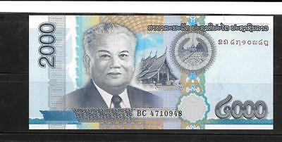 Laos #41 2011 Unc Mint 2000 Kip Banknote Paper Money Currency Bill Note