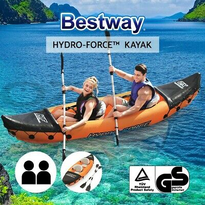 Bestway LITE-RAPID 2-person Inflatable Kayak Kayaks Canoe Raft Fishing Boat