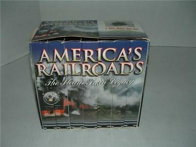 AMERICA'S RAILROADS THE STEAM TRAIN LEGACY Set of 7 VHS VIDEOS TAPES EXCELLENT