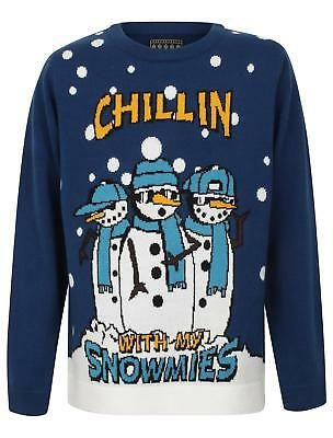Childrens Knitted 'Snowmies' Christmas Jumper