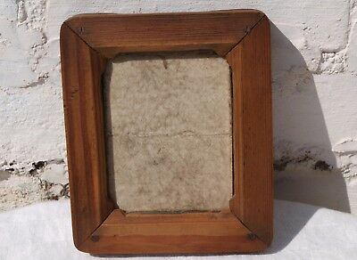 "OLD WOODEN CONTACT PRINT PICTURE PHOTO FRAME STAMPED WM HUME 3.1/4"" x 4.1/4"""