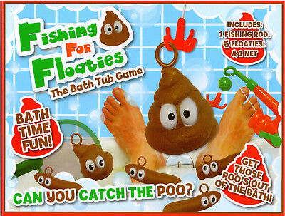 Fishing For Floaties Floaters Novelty Poo Game Kids Adults Bath Time Fun Water