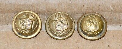 """Three 1/2"""" New York Civil War Buttons Excelsior"""