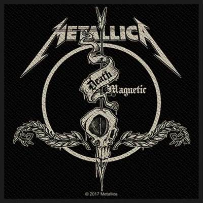 METALLICA Death Magnetic Arrow Woven Sew On Patch Official Licensed Merch New