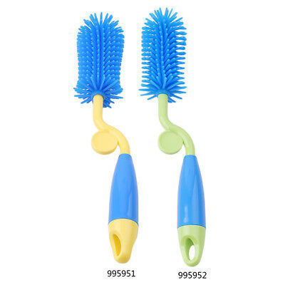 Baby Bottle Cleaning Brush Set 360° Rotating with Nipple Cleaner & Straw Brush