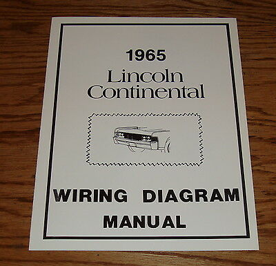 1965 lincoln continental wiring diagram manual 65