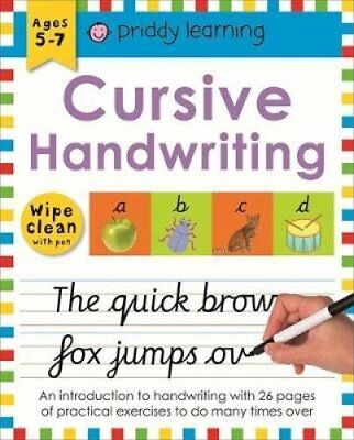 Wipe Clean Workbook Cursive Writing by Roger Priddy (Spiral bound, 2017)