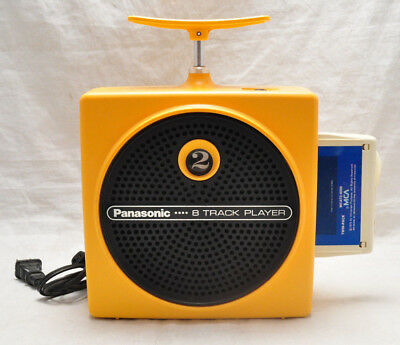 VTG Panasonic Yellow RQ-83OS Portable 8-Track Player TNT Plunger- Works Great