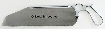 "Satterlee Bone Saw 12"" Blade with Ring Handle Orthopedic Surgical Instruments"