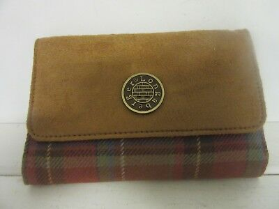 Longaberger Toboso Plaid  Fabric Wallet coin pocket