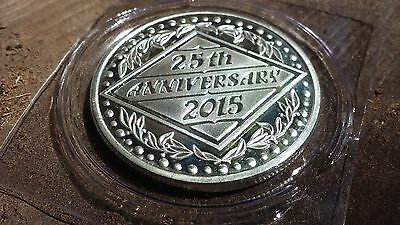 2015 25th Silver Wedding Anniversary one troy ounce round