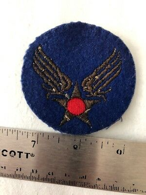 WW2 Tinsel On Felt Patch