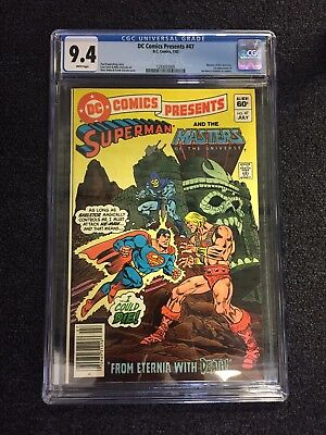 DC Comics Presents 47 CGC 9.4 White Pages 1st Appearance He-Man & Skeletor 1982