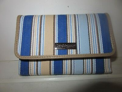 Longaberger Wallet Cabana Stripe W coin pocket