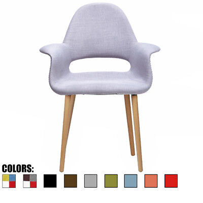 Vintage Antique Organic Accent Dining Chair Natural Wood Legs With Open Back