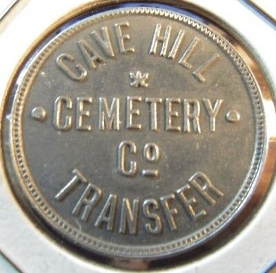 Very Old Cave Hill Cemetary Co. Transfer Louisville, KY Transit Token - Kentucky