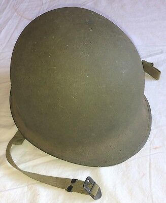 Original WWII US Army FS FB M1 Combat Helmet With Early Inland Liner.....SUPERB!