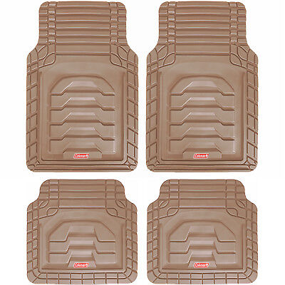 4pc Coleman All-Weather Car Floor Mat Heavy Duty Custom Fit Adventurer Class