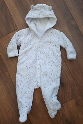 The Little White Company Pramsuit All In One  6 - 9 months