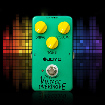 Joyo JF-01 Vintage Overdrive Guitar Effect Pedal True Bypass+Free Ship New Q1S5