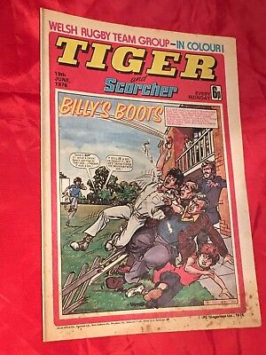 TIGER & SCORCHER -WEEKLY BRITISH COMIC -19th JUNE 1976 -STAN BOWLES -FOOTBALLER