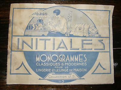 Vintage French Monogram Booklet Templates for Linens and Sheets and more