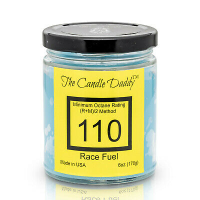 Race Racing Fuel Gas 6 oz jar candle by The Candle Daddy 40 plus hour burn