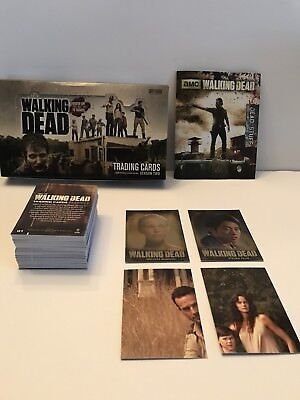 Walking Dead Season 2 Trading Cards Cryptozoic Complete 80 Card Set And Box