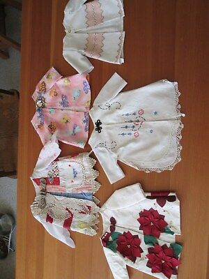5 Coats for the 18 inch doll, made from vintage cutter quilt & more