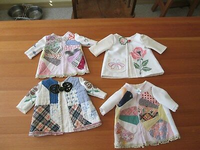 4 Doll Coats from a Dresden Plate quilt top & more