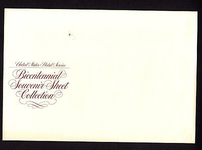 SCOTT # 1686-1689 Bicentennial Souvenir Sheet Collection U.S. MNH of 4 sheets