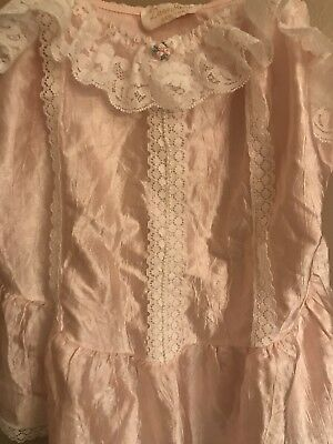 1970s Vintage Lingerie Top, Pink, Lace, Small, Dara Jane NY