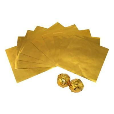 Gold 100pcs Sweets Candy Package Foil Paper Chocolate Lolly Foil Wrappers NEW S