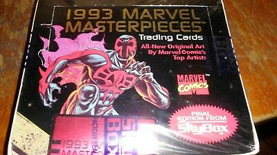 Marvel Masterpieces Collector Cards, SkyBox International 1993 Sealed Box