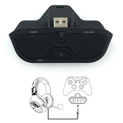 Stereo Headset Headphone Audio Gaming Game Adapter For Xbox One Controller 3.5mm